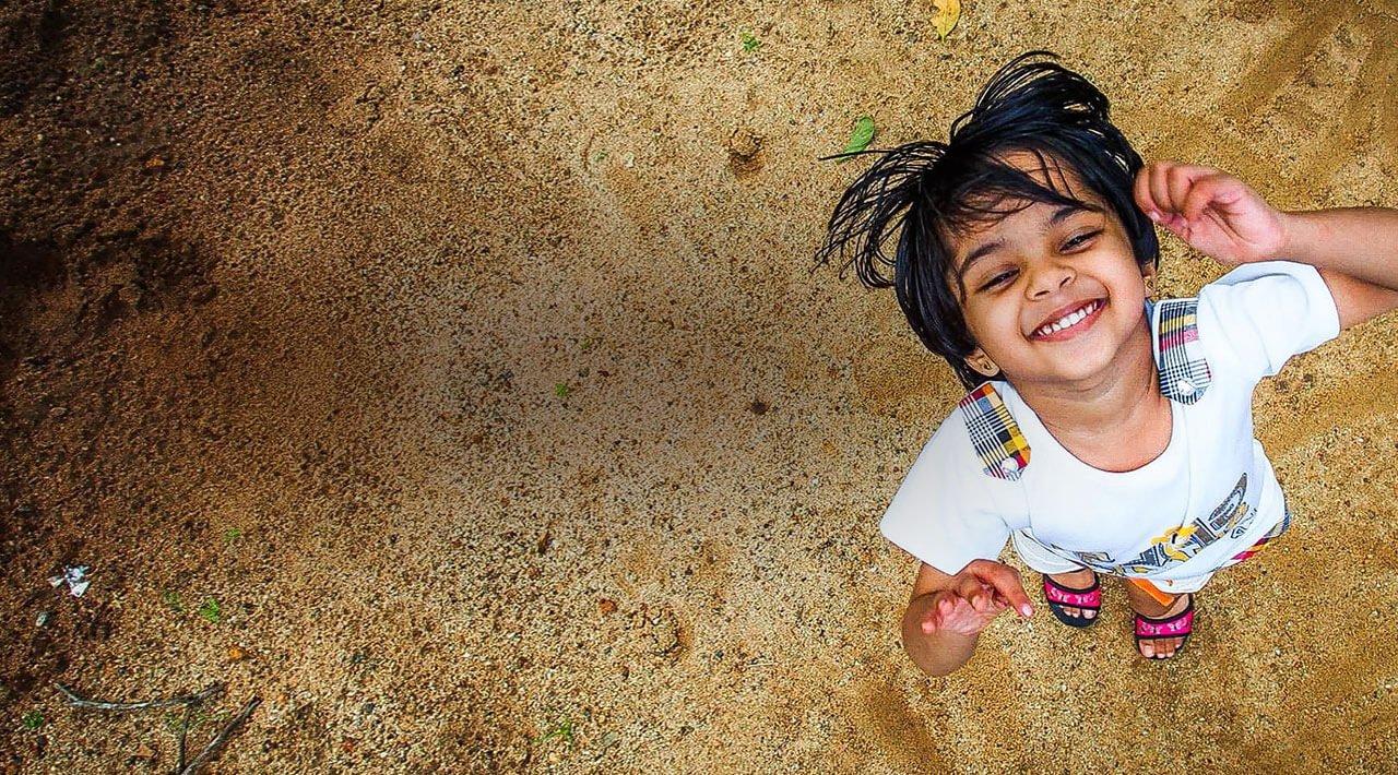 Girl child enjoying outdoors