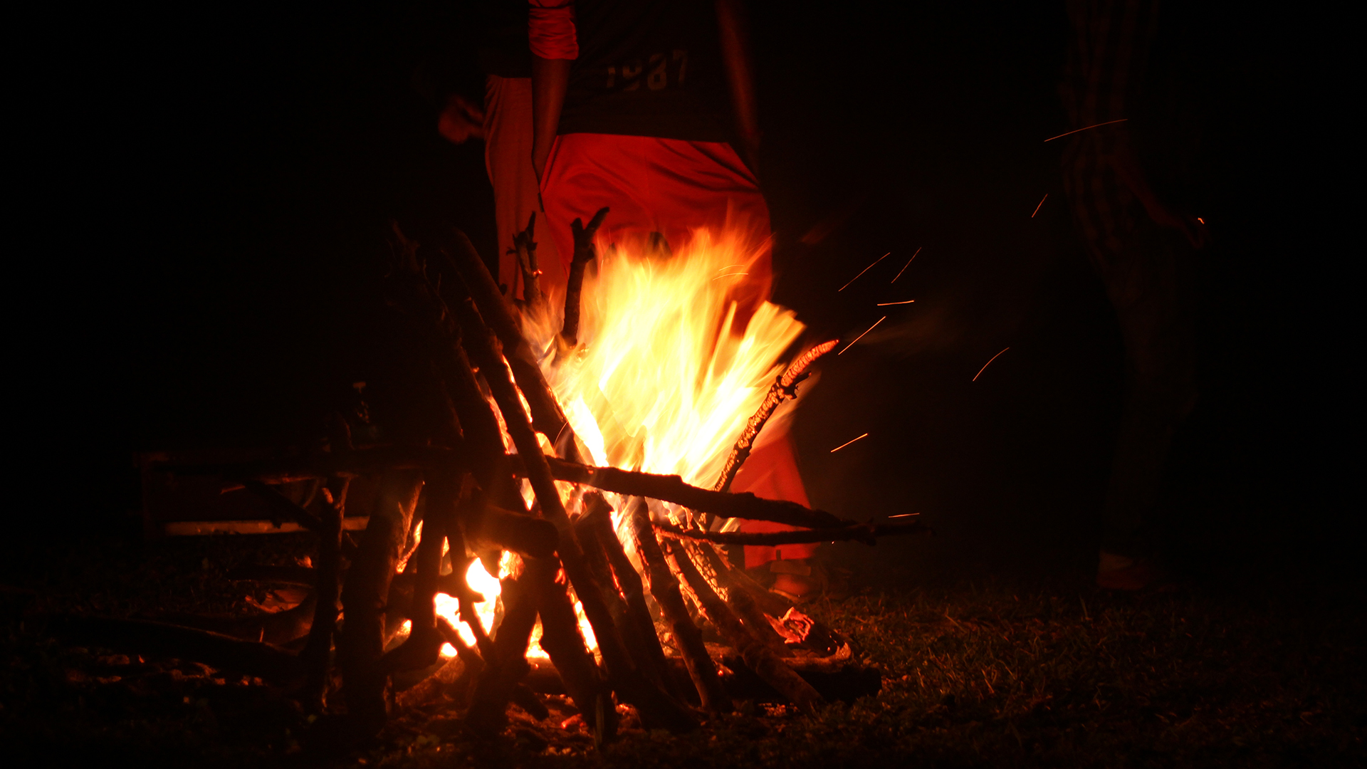 Winter Camping. Campfire Moods