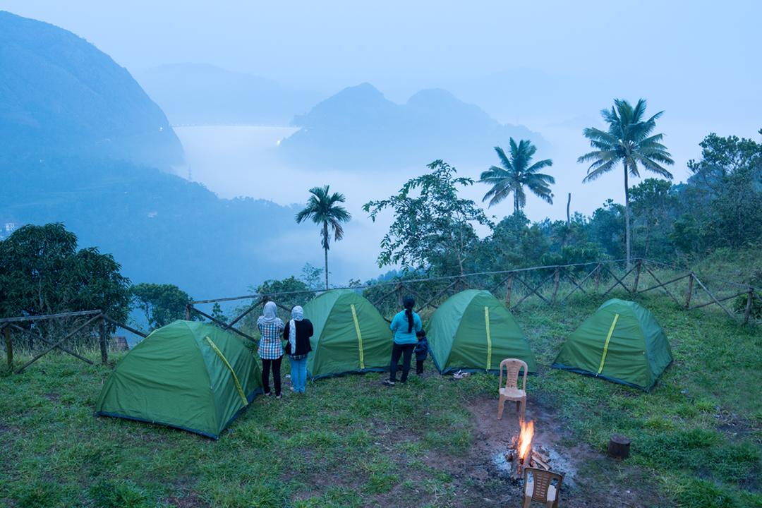 Events in December. Idukki Dam View Camp.