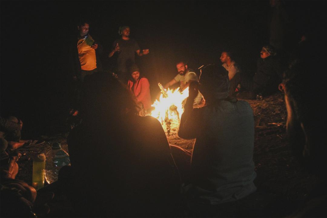 Campfire at Arrow Hill Camp