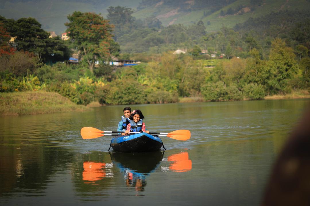 Kayaking. Camping In Munnar.