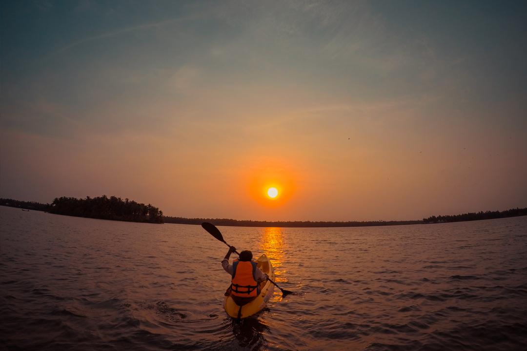 Uppa With His Kayak. Camping At Kavvayi