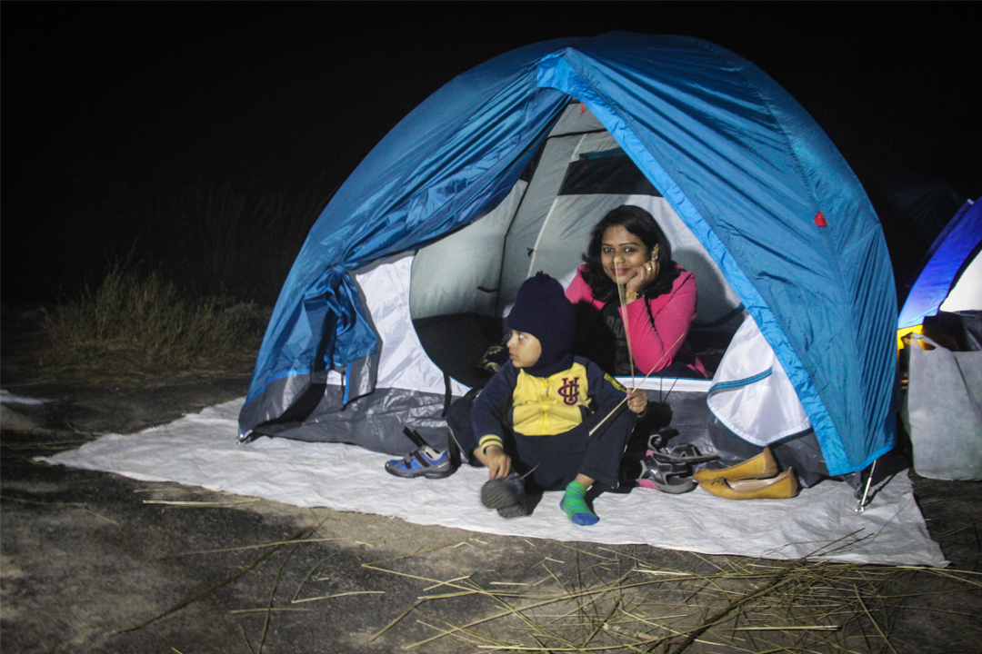 Girls Camping at Arrow Hill Camp, Wayanad