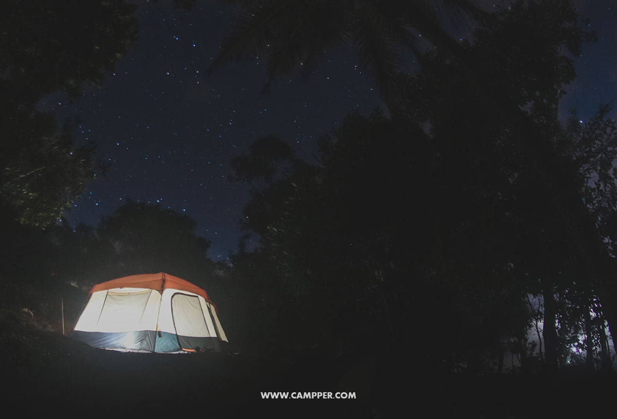 Winter Camping. Million Star View