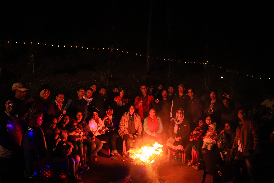 Campfire. Indian Navy. Camp Woody Suryanelli