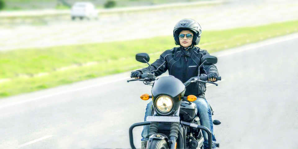 Women's Day .Motorbike Rider. Roshni Sharma